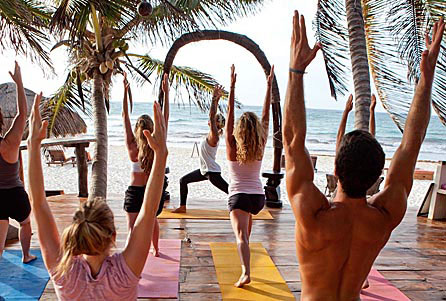 Yoga Class at Amansala Yoga Resort